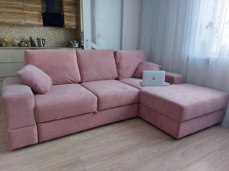 Pink künc divan